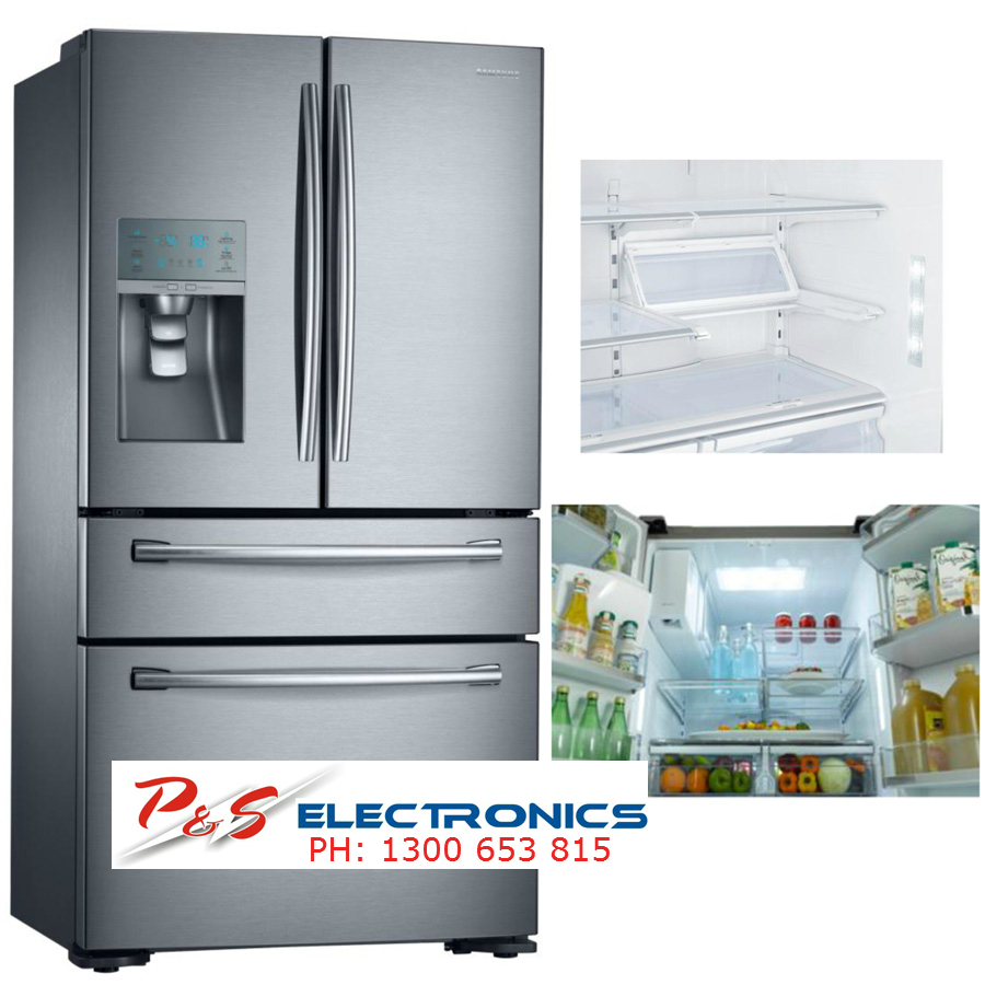 SAMSUNG 680L Stainless Steel French 4 Door Fridge_Model: SRF680CDLS   P And  S Electronics