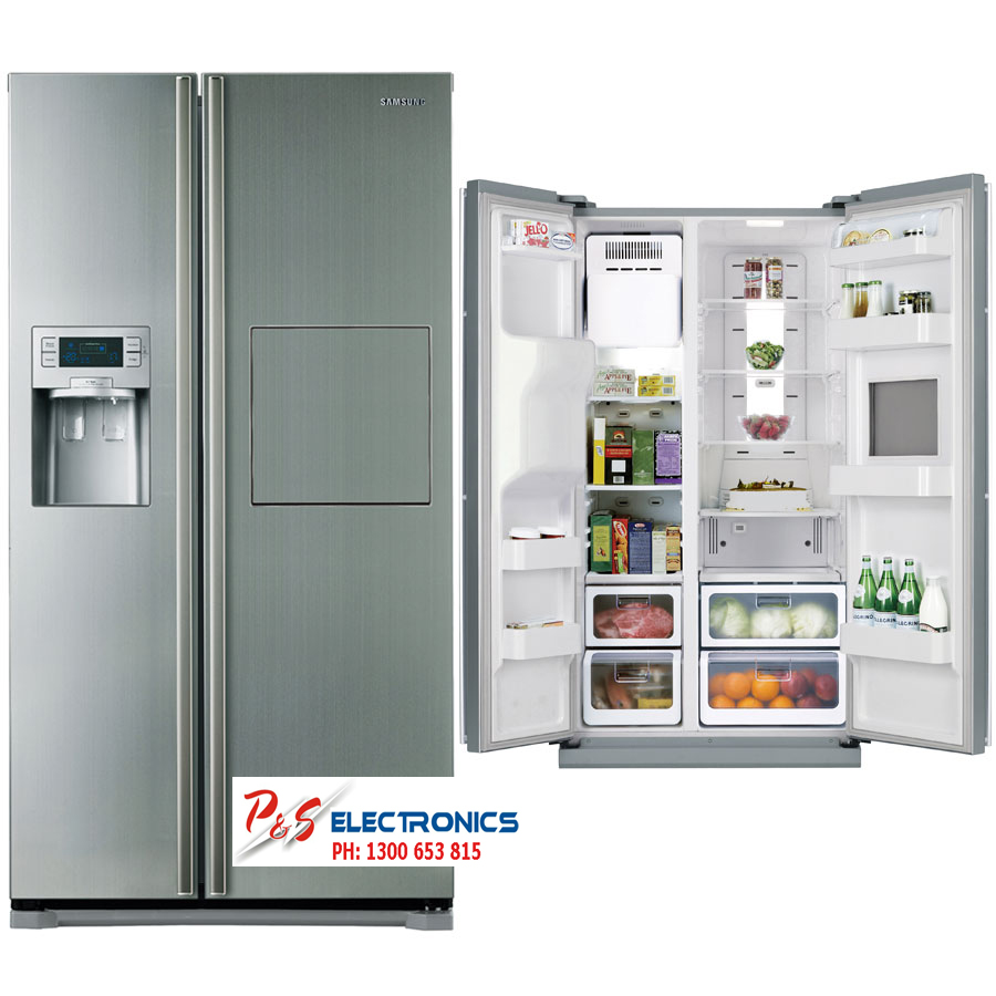 Samsung Side By Side samsung srs580dhls 580l side by side refrigerator p and s electronics