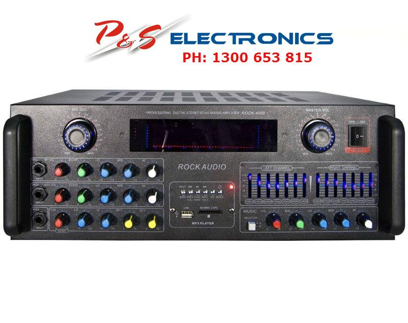 BRAND NEW AUDIO ROCK 4000 AMPLIFIER KARAOKE DJ 1000W 4 CHANNEL,Bluetooth,  USB, SD CARD_ROCK 4000