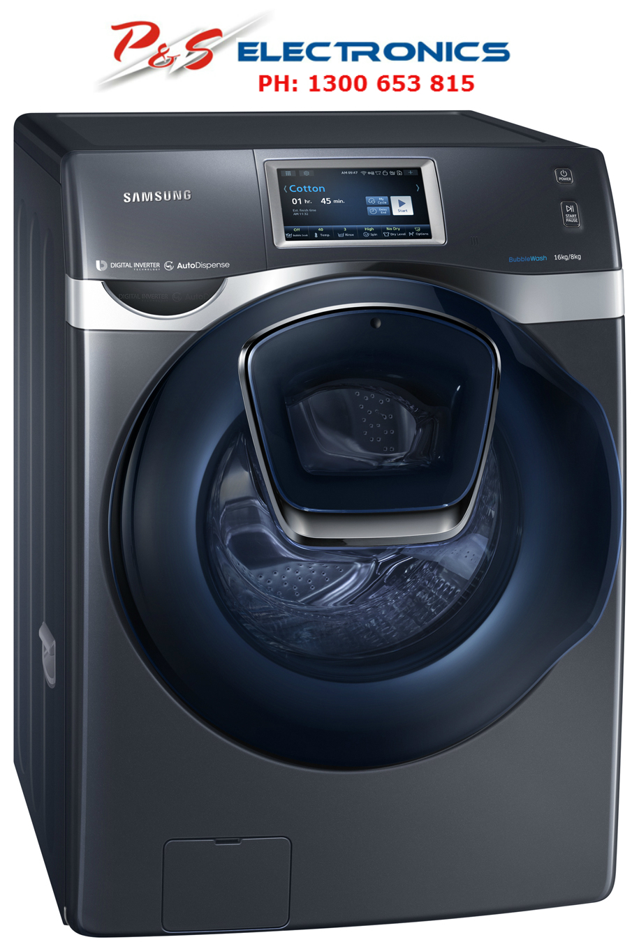 samsung washer and dryer combo samsung 16kg 8kg front load washer dryer combo adwash 28549