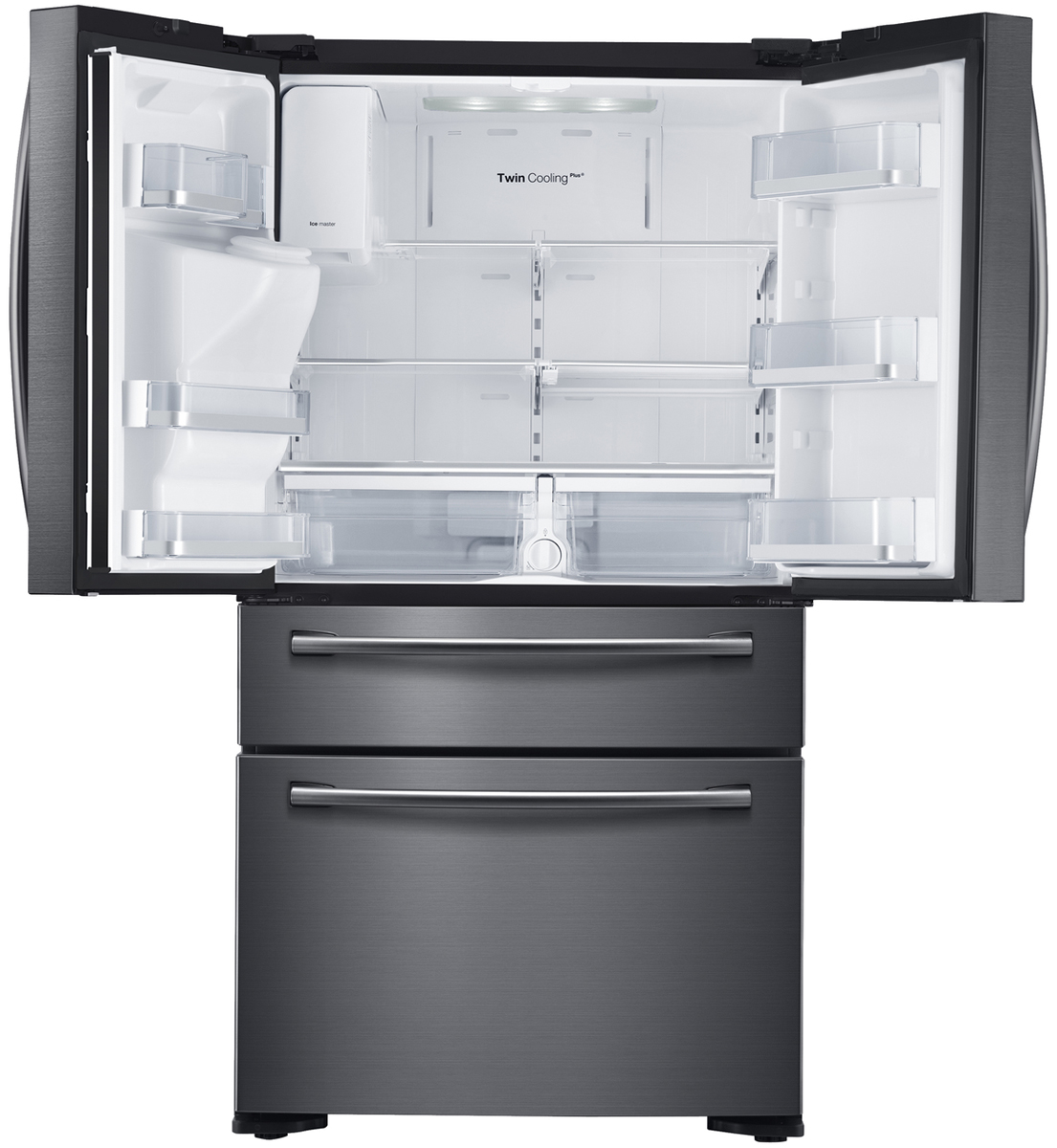 Samsung 680l 4 Door French Door Fridgeicewater Dispenser Black